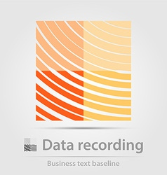 Data recording business icon vector image