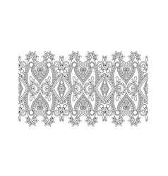 Decorative stripe pattern paisley floral design vector
