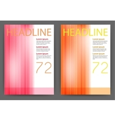 Design magazine template vector