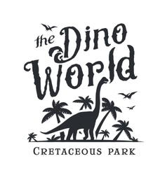 Dino world logo template Dinosaur park logotype vector