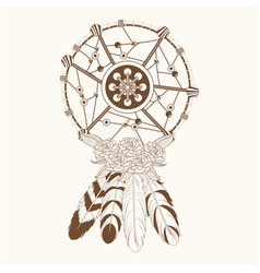 Dream catcher free spirit magic vector