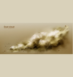 dust cloud dirty brown smoke heavy thick smog vector image