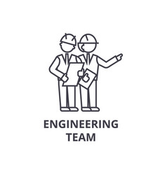 Engineering team line icon sign vector