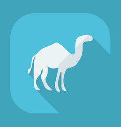 Flat modern design with shadow camel vector