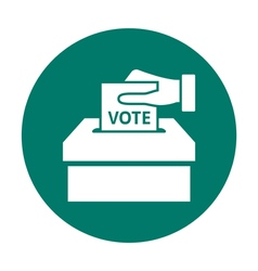 Flat voting icon vector image