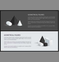 Geometrical figures banners vector