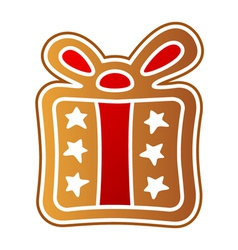 Gingerbread gift vector image