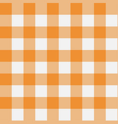 gingham yellow vector image