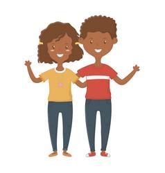 Girl and boy friendship design vector