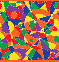 grid seamless pattern with random geometric vector image