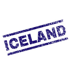 Grunge textured iceland stamp seal vector