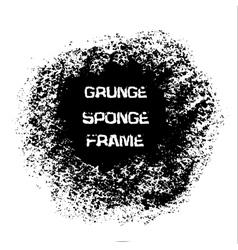 Grunge white sponge frame Textured vector image