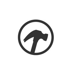 hammer icon graphic design template vector image