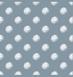 hand drawn dark blue and white polka dot seamless vector image