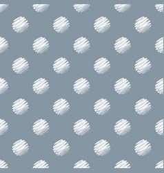 hand drawn dark blue and white polka dot seamless vector image