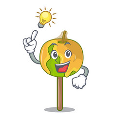 Have an idea candy apple mascot cartoon vector