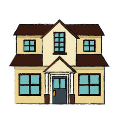 House home classic real estate exterior vector