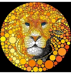 Lion Mane Portrait Predator Abstract Wild vector