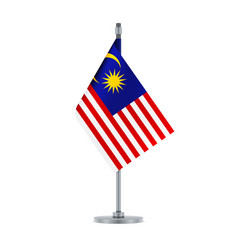 malaysian flag hanging on the metallic pole vector image
