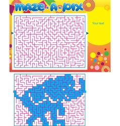 Maze puzzle Elephant vector image