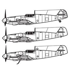 messerschmitt bf109 vector image