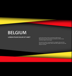 modern background with belgian colors vector image