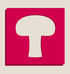 Mushroom simple sign grayscale version of vector