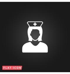 Nurse flat icon vector