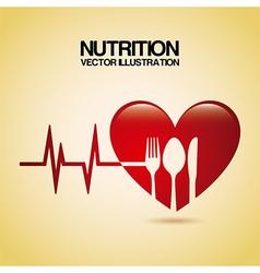 Nutrition design over cream background vector