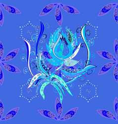 On blue violet and white colors greeting card vector