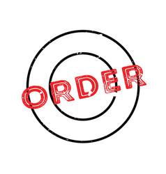Order rubber stamp vector