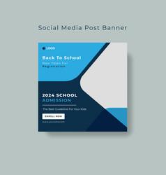 School education admission social media post vector