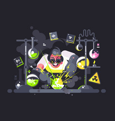 scientist chemist making chemical experiment vector image