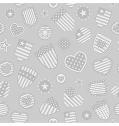 seamless pattern of usa symbols vector image