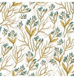 Seamless wildflowers pattern vector