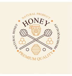Set of honey and bees labels badges vector