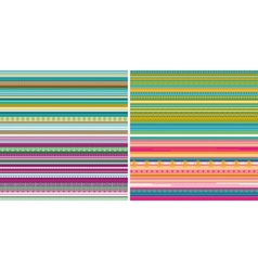 Set of seamless geometric striped patterns vector image