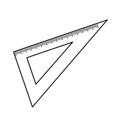 Set square ruler vector