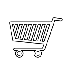 Shopping cart commerce consumerism icon vector
