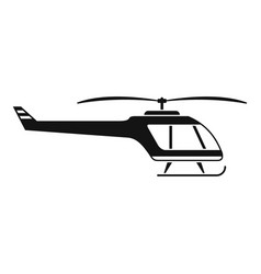 Small helicopter icon simple style vector