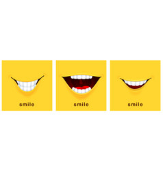 Smile day cards happy smiles positive mood vector