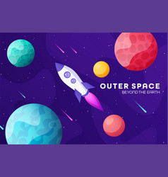 Space futuristic modern colorful background vector