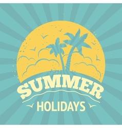 Summer holiday poster vector