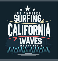 Surf t-shirt graphic design surfing grunge print vector
