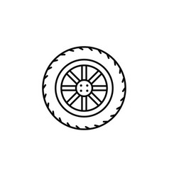 Tire car icon can be used for web logo mobile app vector