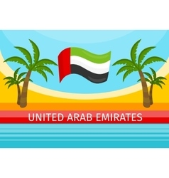 United Arab Emirates Travelling Banner Welcome vector