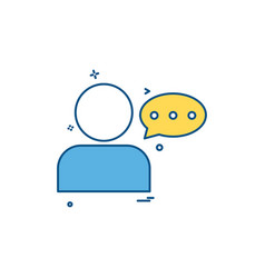 user massage massaging chat icon design vector image