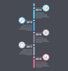 vertical timeline infographics vector image
