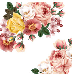 Vintage background with beautiful roses or save th vector