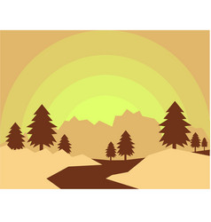 way to mountain vector image